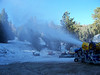 Start-of-season test run on all the snowguns. Here the M18, our second-biggest snow producer, does its thing.