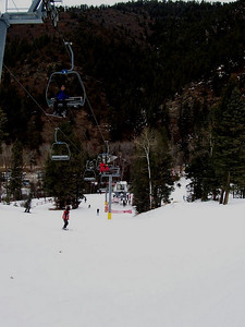 Looking down at the base of lift #1.