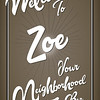 Welcome Zoe 36x24_8