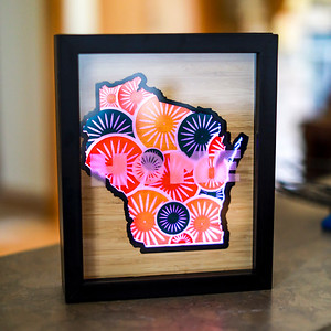 Wisconsin Union Terrace Chair Sunburst Shadowbox