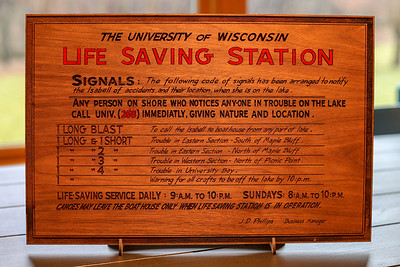 Vintage Lifesaving Station Sign