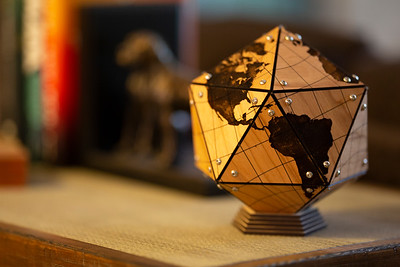 Dymaxion Globe on Cherry