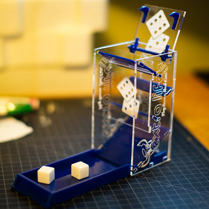 Extra Life Dice Tower - Acrylic