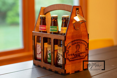 Beer Caddy Owyn's Hickory Ply