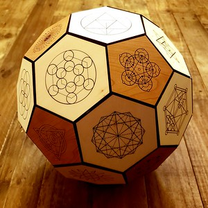 Sacred Geometric Truncated Icosahedron
