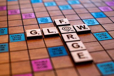 Custom Scrabble Board on Cherry