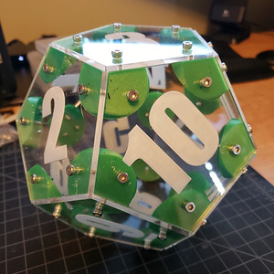 Dodecahedron Acrylic Die