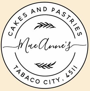 Mae Anne's Cakes Logo New_orange
