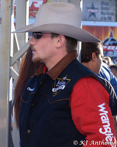 Before each performance of the PBR World Finals, the bull riders will run the red carpet gauntlet. The bull riders must make their way from Ford Pickup Trucks, up the red carpet, and into the Thomas and Mack.
