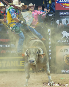 Eduardo Aparecido on Smackdown.  It was the first night and Round One of the PBR World Finals at the Thomas and Mack Center on October 24, 2012, in Las Vegas Nevada.