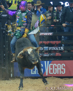 Davi Henrique on Pawnbroker.  It was the first night and Round One of the PBR World Finals at the Thomas and Mack Center on October 24, 2012, in Las Vegas Nevada.