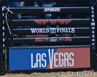 It was the second night and Round Two of the PBR World Finals at the Thomas and Mack Center on October 25, 2012, in Las Vegas Nevada.