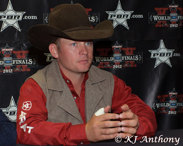 Chris Shivers winner of Round Three.  It was the third night and Round Three of the PBR World Finals at the Thomas and Mack Center on October 26, 2012, in Las Vegas Nevada.
