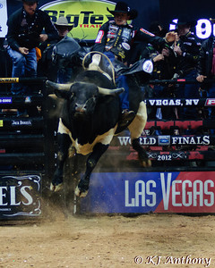 Agnaldo Cardozo on Ace's Magic.  It was the third night and Round Three of the PBR World Finals at the Thomas and Mack Center on October 26, 2012, in Las Vegas Nevada.