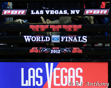 It was the third night and Round Three of the PBR World Finals at the Thomas and Mack Center on October 26, 2012, in Las Vegas Nevada.