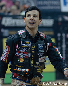 Agnaldo Cardozo.  It was the fourth night and Round Four of the PBR World Finals at the Thomas and Mack Center on October 27, 2012, in Las Vegas Nevada.