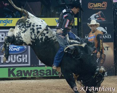 Agnaldo Cardozo on Vortex Madness.  It was the fourth night and Round Four of the PBR World Finals at the Thomas and Mack Center on October 27, 2012, in Las Vegas Nevada.