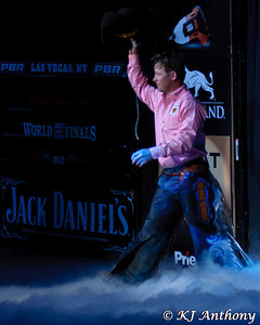 It was the fourth night and Round Four of the PBR World Finals at the Thomas and Mack Center on October 27, 2012, in Las Vegas Nevada.