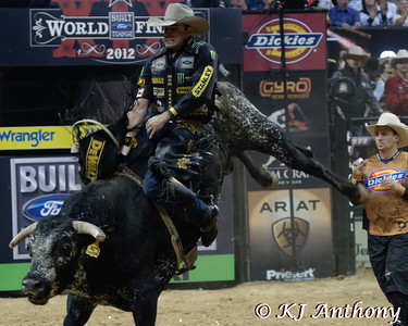 Guilherme Marchi on Blueberry Crush.  It was the fifth night and Round Five of the PBR World Finals at the Thomas and Mack Center on October 28, 2012, in Las Vegas Nevada.