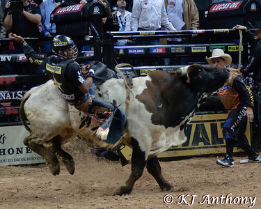 It was the Championship Round -  Round Six of the PBR World Finals at the Thomas and Mack Center on October 28, 2012, in Las Vegas Nevada.  Valdiron de Oliveira on King of Hearts.