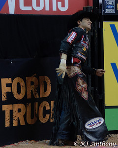 It was the Championship Round -  Round Six of the PBR World Finals at the Thomas and Mack Center on October 28, 2012, in Las Vegas Nevada.  Agnaldo Cardozo.