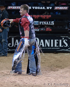 It was the Championship Round -  Round Six of the PBR World Finals at the Thomas and Mack Center on October 28, 2012, in Las Vegas Nevada.  Chris Shivers