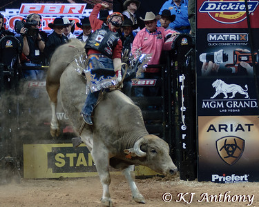 It was the Championship Round -  Round Six of the PBR World Finals at the Thomas and Mack Center on October 28, 2012, in Las Vegas Nevada.  Chris Shivers on Smackdown.
