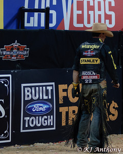 It was the Championship Round -  Round Six of the PBR World Finals at the Thomas and Mack Center on October 28, 2012, in Las Vegas Nevada.  Kody Lostroh.