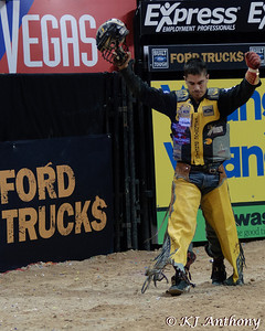 It was the Championship Round -  Round Six of the PBR World Finals at the Thomas and Mack Center on October 28, 2012, in Las Vegas Nevada.  Mike Lee.