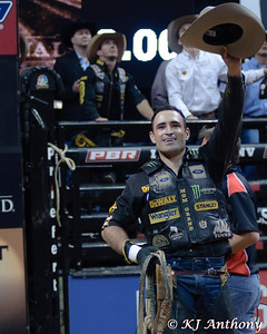 It was the Championship Round -  Round Six of the PBR World Finals at the Thomas and Mack Center on October 28, 2012, in Las Vegas Nevada.  Guiliherme Marchi.