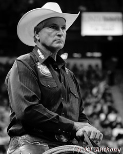 James DeBord - Pickup Man at the 2012 Professional Bull Riders (PBR) World Finals in Las Vegas, Nevada