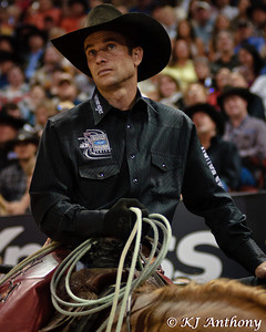 Mike White - Pickup Man at the 2012 Professional Bull Riders (PBR) World Finals in Las Vegas, Nevada