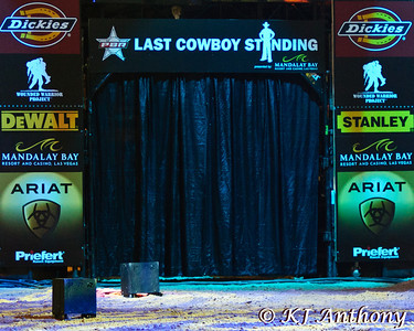 It was the first night and Round One of PBR's Last Cowboy Standing at the Mandalay Bay Events Center on May 10, 2013, in Las Vegas Nevada.