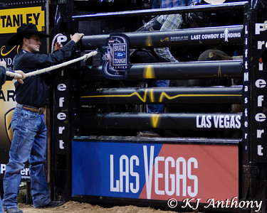 It was the second night and Round Four of PBR's Last Cowboy Standing at the Mandalay Bay Events Center on May 11, 2013, in Las Vegas Nevada.