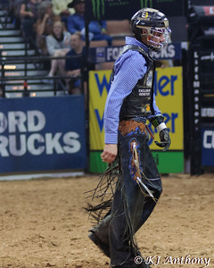 Kasey Hayes.  It was the second night and Round Two of PBR's Last Cowboy Standing at the Mandalay Bay Events Center on May 11, 2013, in Las Vegas Nevada.