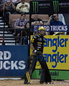 Silvano Alves.  It was the second night and Round Three of PBR's Last Cowboy Standing at the Mandalay Bay Events Center on May 11, 2013, in Las Vegas Nevada.