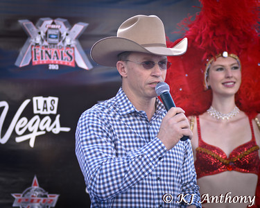 The 2013 PBR World Finals Red Carpet at the Thomas and Mack. The bull riders are greeted by fans looking for autographs, and a photo with their favorite rider.