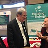 Katie Todd from Museum of Science in Boston discusses evaluation work with Jim Lewis, NSF's Acting Assistant Director of Education and Human Resources Directorate