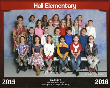 2015-2016 - Emily 3rd Grade Class Photo