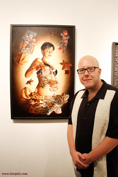 'Artist and his painting'