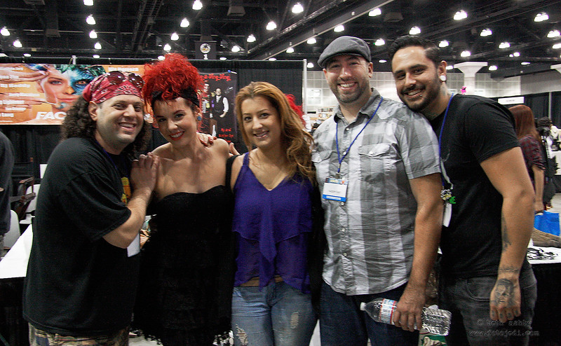 TV Reality Show, 'Faceoff' Competitors at the Comikaze Convention.