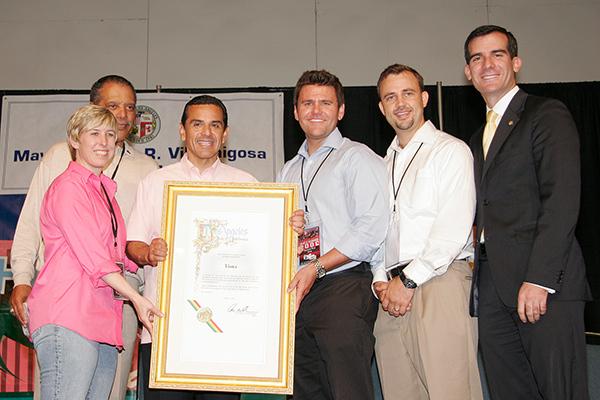 'Mayor Antonio Villaraigosa' photographed for LA's Department of Neighborhoods.