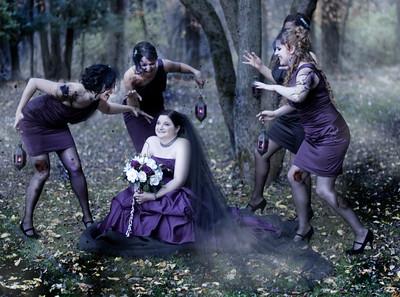 Alli & Eric Gothic Wedding Photography Syracuse NY