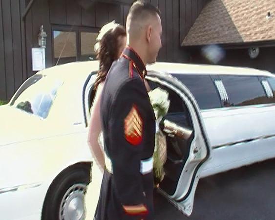 Erin and Steven Arriving at Borio's Restaurant