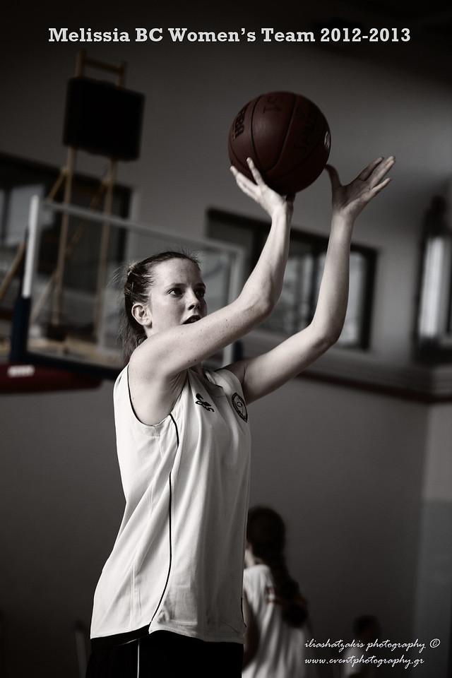 sport photography: Melissia BC Women's team 2012-2013