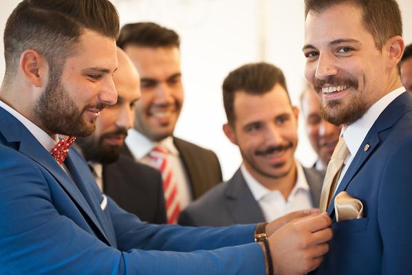 V&Y, groom preparation