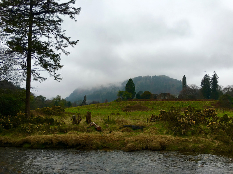 the Glendalough monastic settlement in Wicklow, Ireland