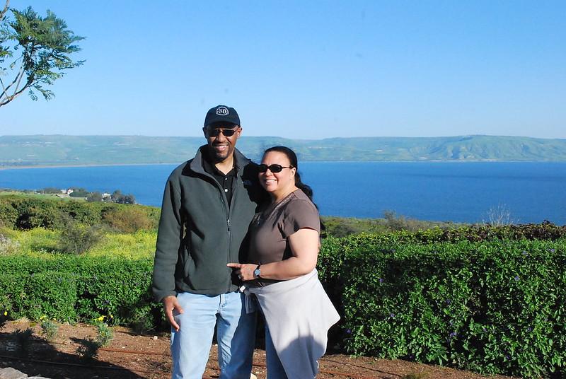 Ian & Tanya Fitzpatrick at the Sea of Galilee