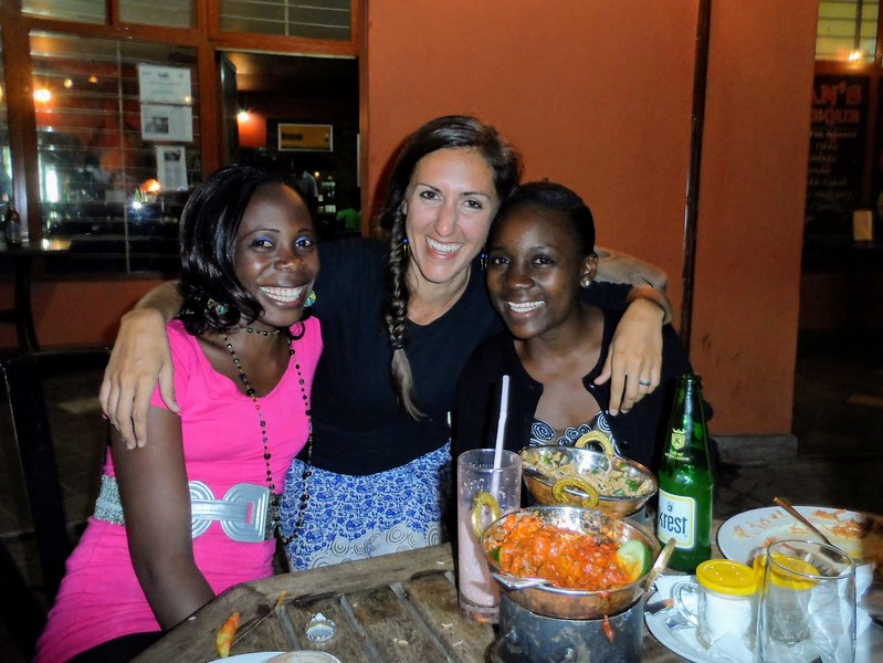 Emily Scott with friends in Kenya
