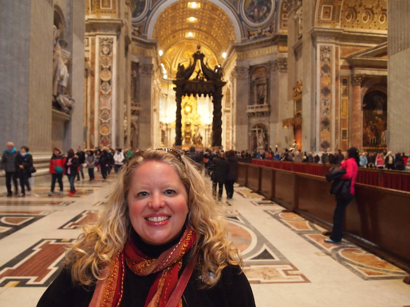 Peg Sewall at the Vatican